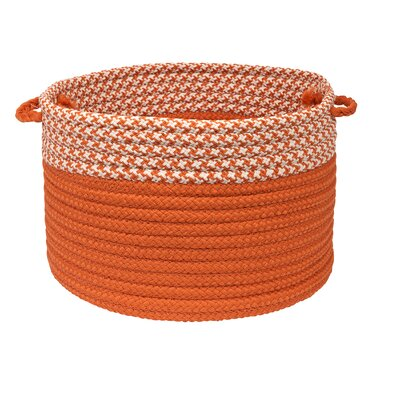 Brayden Studio Ariadne Dipped Basket Size: 14 H x 24 W x 24 D, Color: Orange