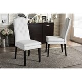 Anvay Tufted Upholstered Parsons Chair in White (Set of 2) by Red Barrel Studio®