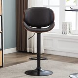 Shahen Swivel Adjustable Height Stool (Set of 2) by Orren Ellis