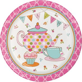 Tea Time Paper Plates (Set Of 24) by Creative Converting Find
