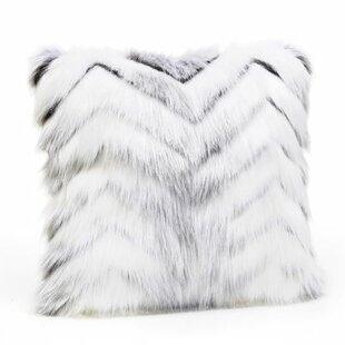 Limited Edition Crystal Fox Faux Fur Throw Pillow