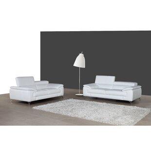 Modern & Contemporary White Italian Leather Sofas   AllModern