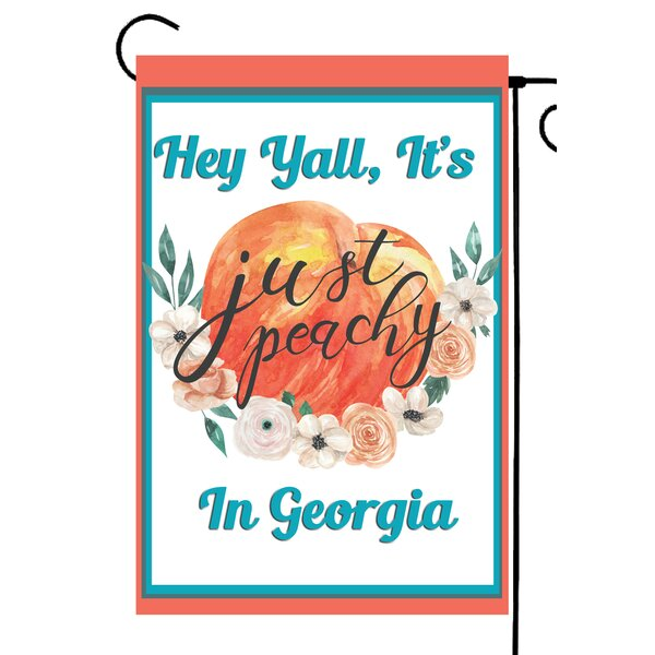 Flags Galore Decor And More Georgia Peach 2 Sided Polyester 18 X 12 In Garden Flag Wayfair