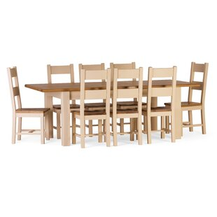 Aaron Extendable Dining Set with 8 Chairs by Brick & Barrow