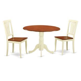 3 Piece Dining Set by East West Furniture Best Choices