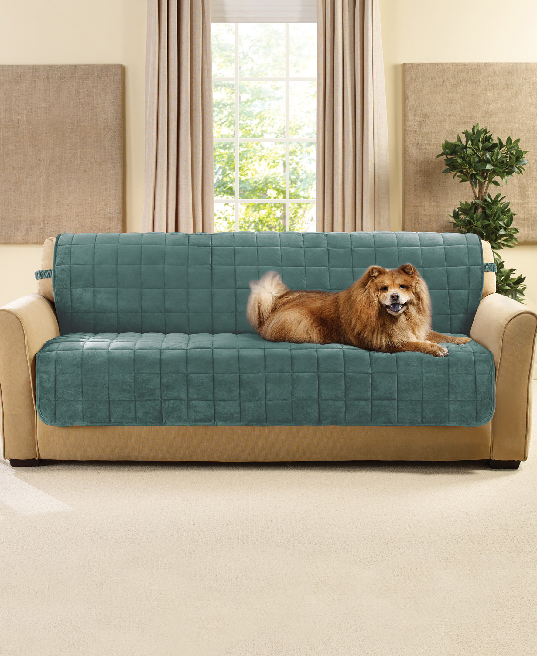 Sure Fit Deluxe Comfort Box Cushion Sofa Slipcover Wayfair