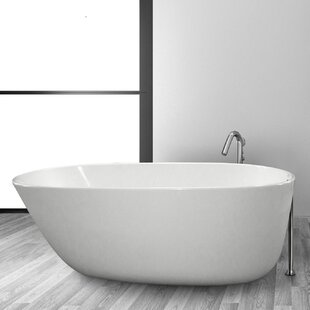 Best Reviews Daniela 58 x 30 Freestanding Soaking Bathtub By Hydro Systems