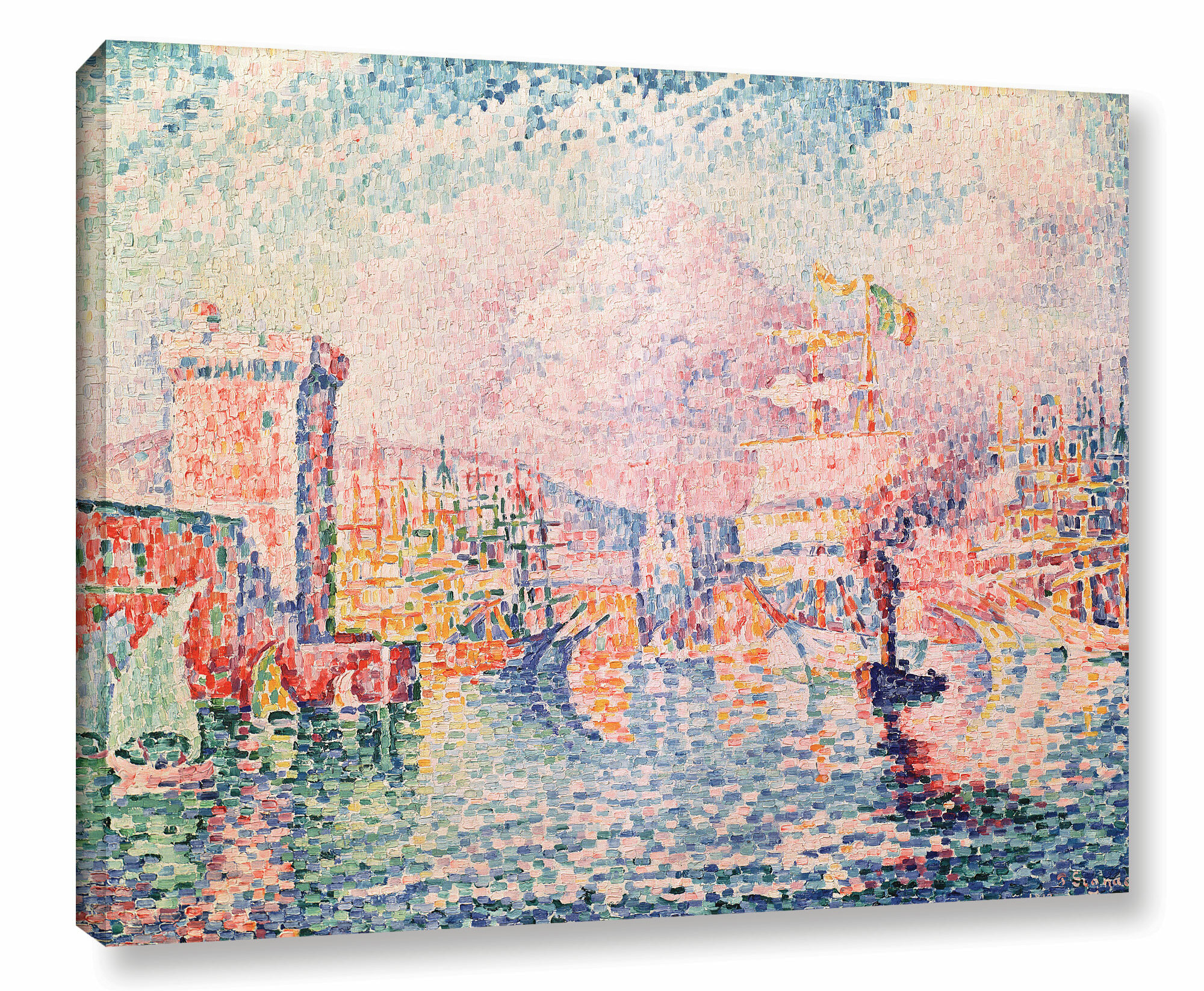 Vault W Artwork The Tower 1913 By Paul Signac Wrapped Canvas Painting Print