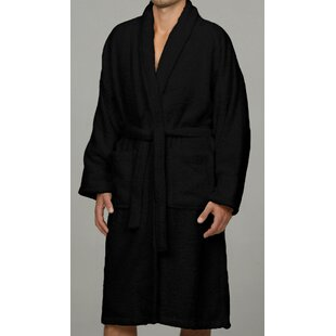 Salerno Luxury 100% Egyptian-Quality Cotton Terry Cloth Bathrobe by Luxor Linens 2019 Sale