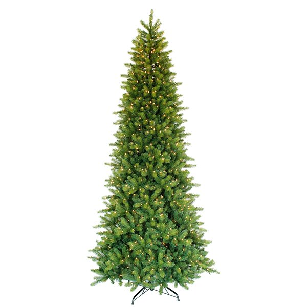 The Holiday Aisle Pre-Lit Slim Forest 9' Green Fir ...