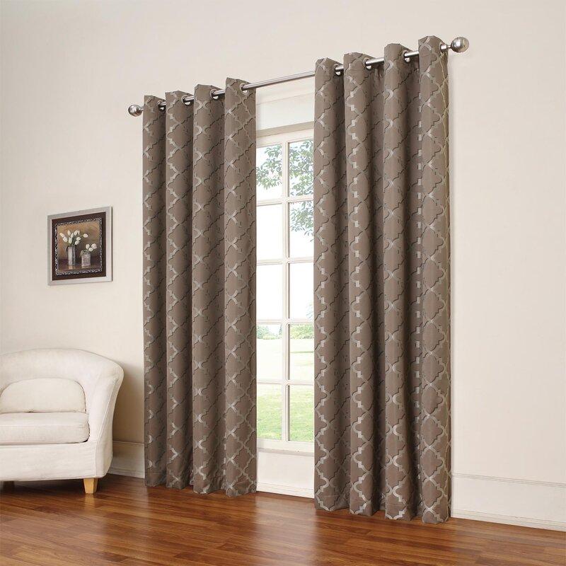eclipse curtains tipton trellis blackout thermal single curtain