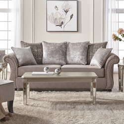 Alcott Hill Agnes Upholstery Living Room Collection Reviews