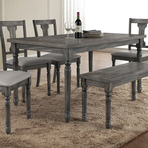 Rustic Distressed Dining Table   Wayfair