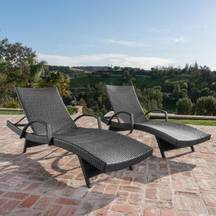 Gilleasbuig Outdoor Wicker Chaise Lounge (Set of 2)