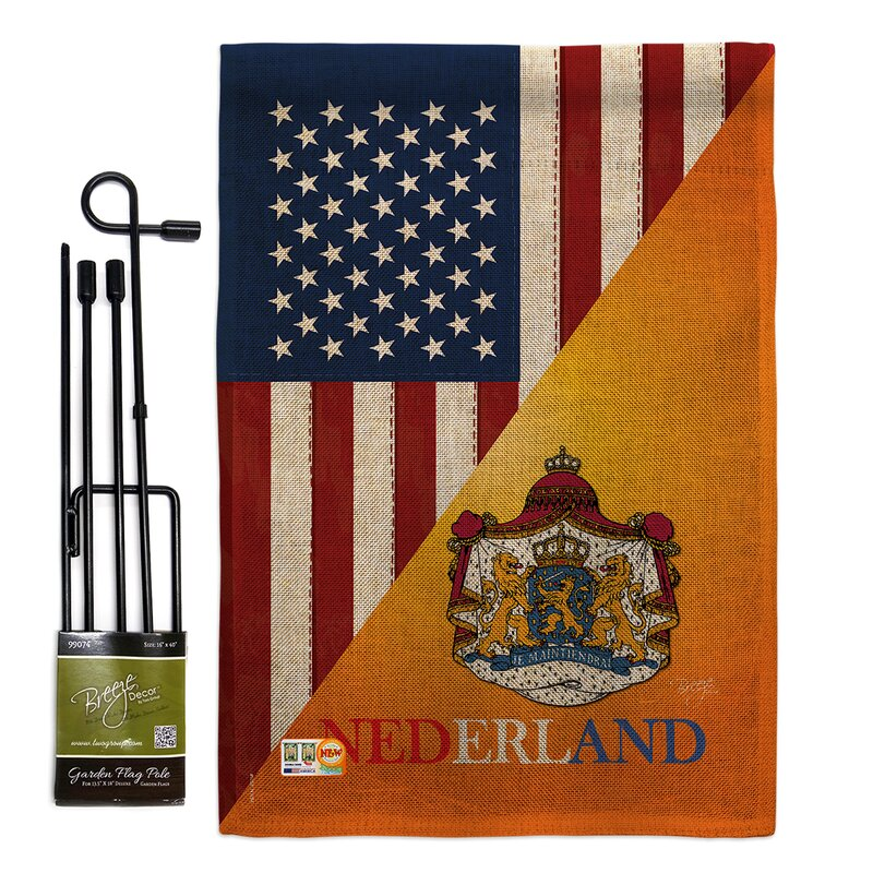 Breeze Decor American Dutch Friendship The World Impressions 2 Sided Polyester 19 X 13 In Flag Set Wayfair