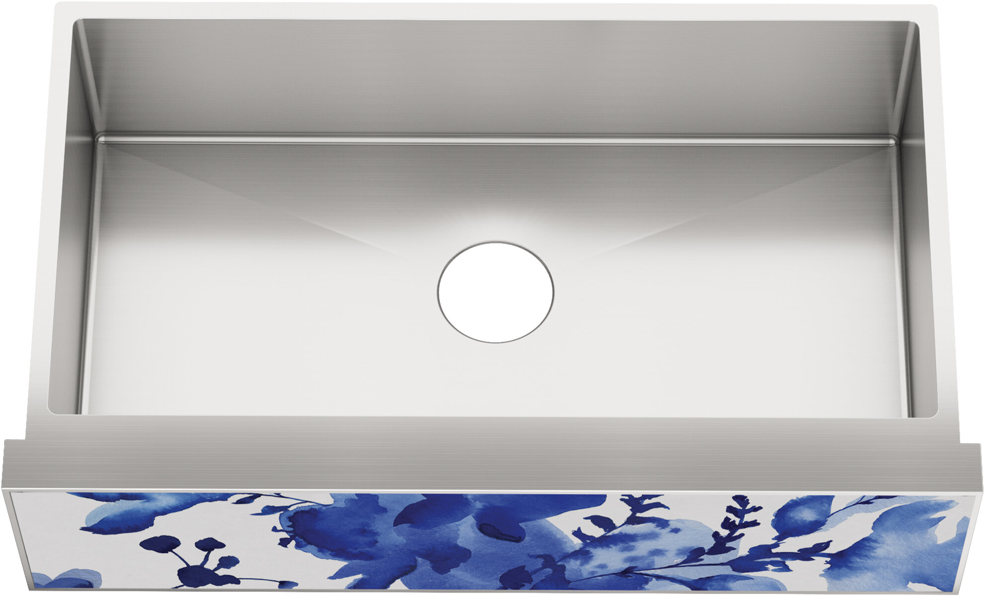 Kohler Tailor Large Single Basin Stainless Steel Sink With Large Flora Insert Wayfair