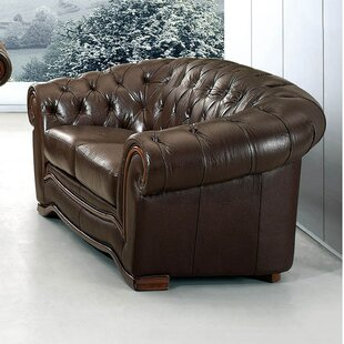 Barkell Leather Loveseat