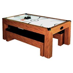 Sherwood 7u0027 Air Hockey With Table Tennis