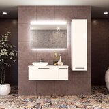 Tornillo 48 Wall-Mounted Single Bathroom Vanity Set with Mirror by Ebern Designs