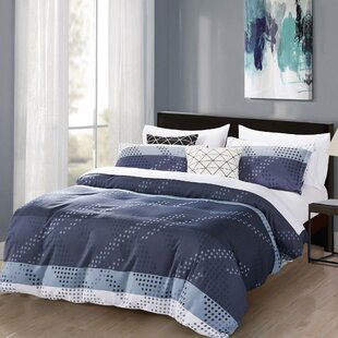 Steyning Monochromatic 3 Piece Duvet Cover Set