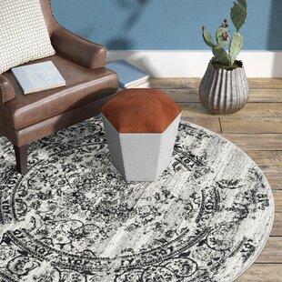 Mccree Mesa Silver/Black Area Rug by Trent Austin Design