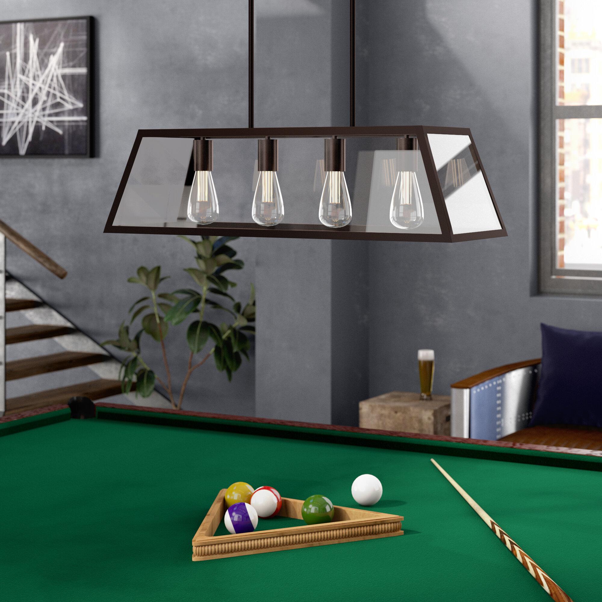 Williston Forge Allena 4 - Light Pool Table Linear Pendant