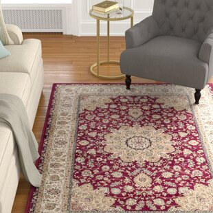 Carolus Red/Beige Area Rug byDarby Home Co