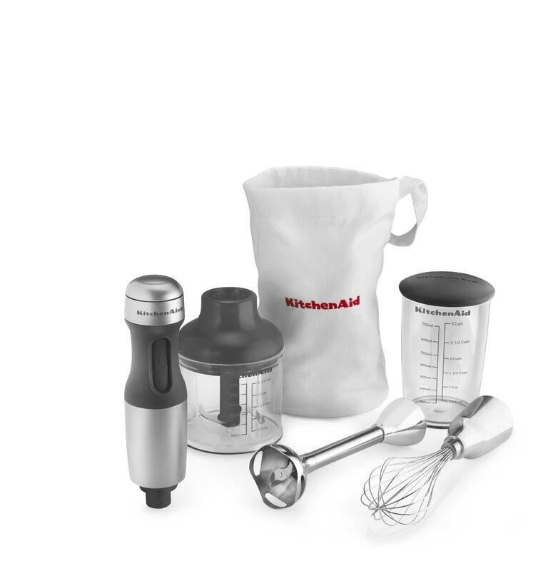 Kitchenaid Khb2351cu 3 Speed Hand Blender kitchenaid 3 speed immersion 6 piece blender set & reviews | wayfair