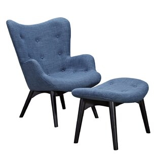 Taya Lounge Chair and Ottoman By Corrigan Studio