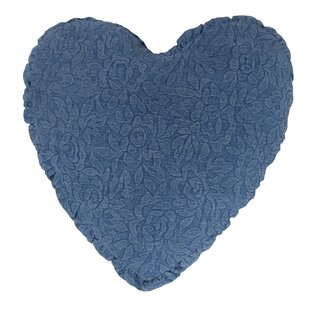 Denim Heart Cotton Throw Pillow
