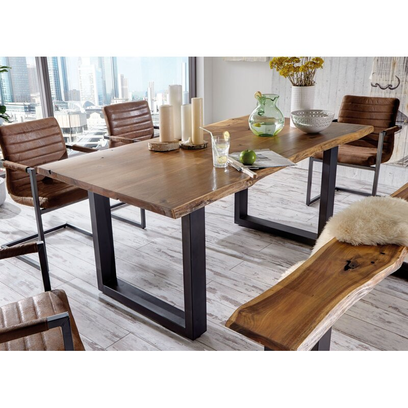 Cool Lemay Modern Live Edge Solid Wood Dining Table Home Interior And Landscaping Ologienasavecom