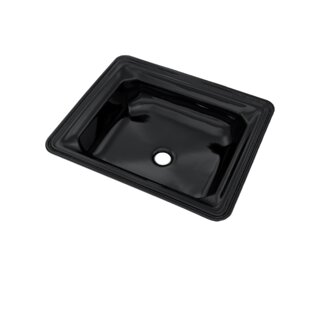 Compare Guinevere Vitreous China Rectangular Undermount Bathroom Sink with Overflow By Toto