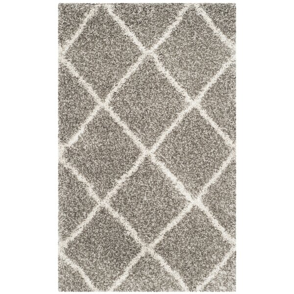 Mercury Row Duhon Gray/Ivory Area Rug & Reviews by Mercury Row