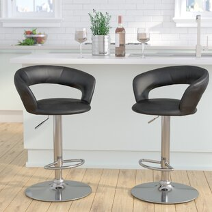 Evins Adjustable Height Swivel Bar Stool