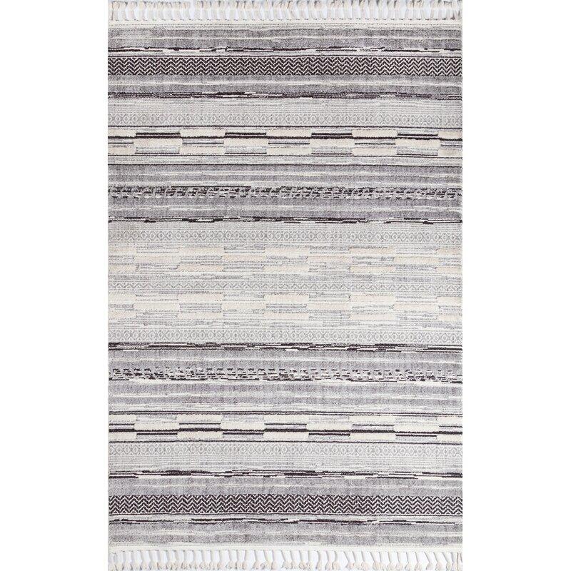 Union Rustic Brumbaugh Striped Gray