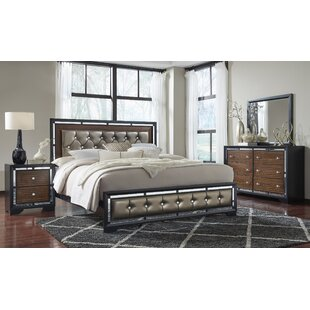 Price comparison Landrum Upholstered Panel Bed by Orren Ellis Reviews (2019) & Buyer's Guide