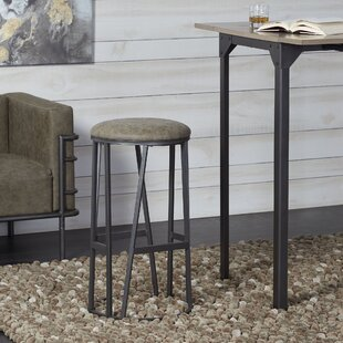 Macie Backless Barstool with Round Padded Seat