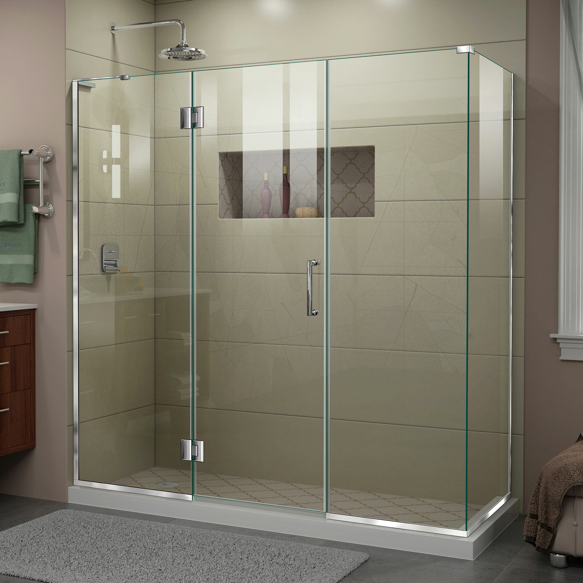 Unidoor X 69 5 X 72 Hinged Frameless Shower Door With Clearmax Technology
