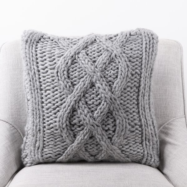 August Grove Tolan Cable Knit Pillow Cover Reviews Wayfair