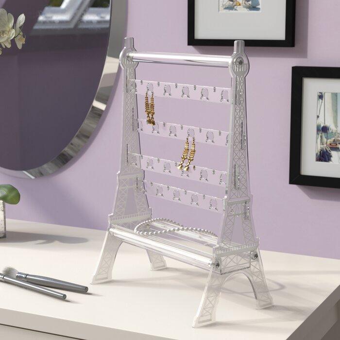 Jewellery Stand Designs : Ebern designs acrylic eiffel tower jewellery stand wayfair