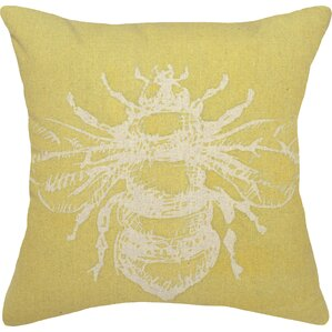 Bumble bee decor wayfair bumble bee linen throw pillow junglespirit Images