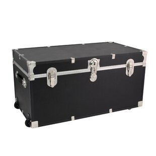 Tania Vinyl Lined Footlocker Trunk by 17 Stories