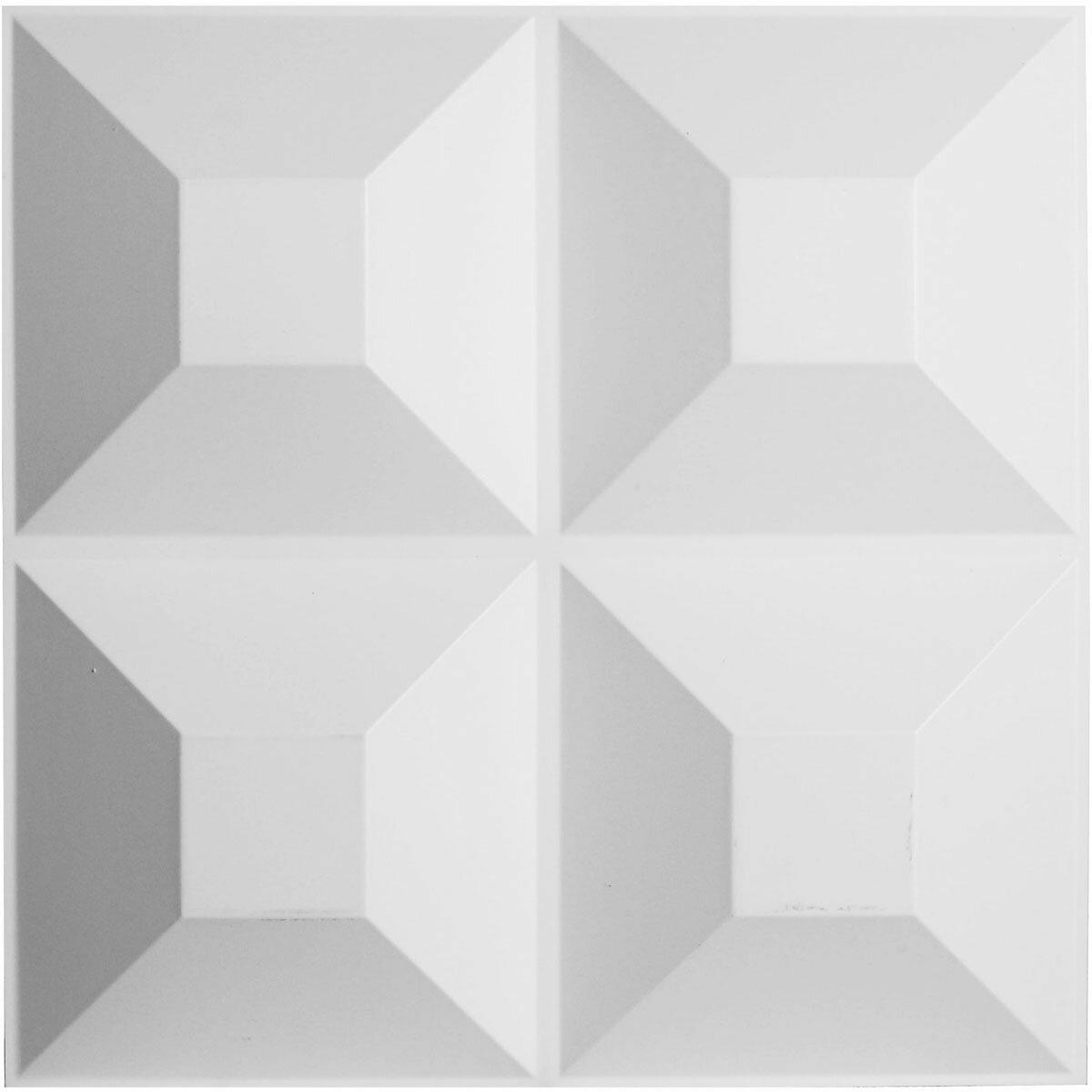 ekena millwork foster endurawall decorative 19 6 l x 19 6 w 3d