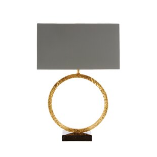Geo Hammered Circle 24 Table Lamp
