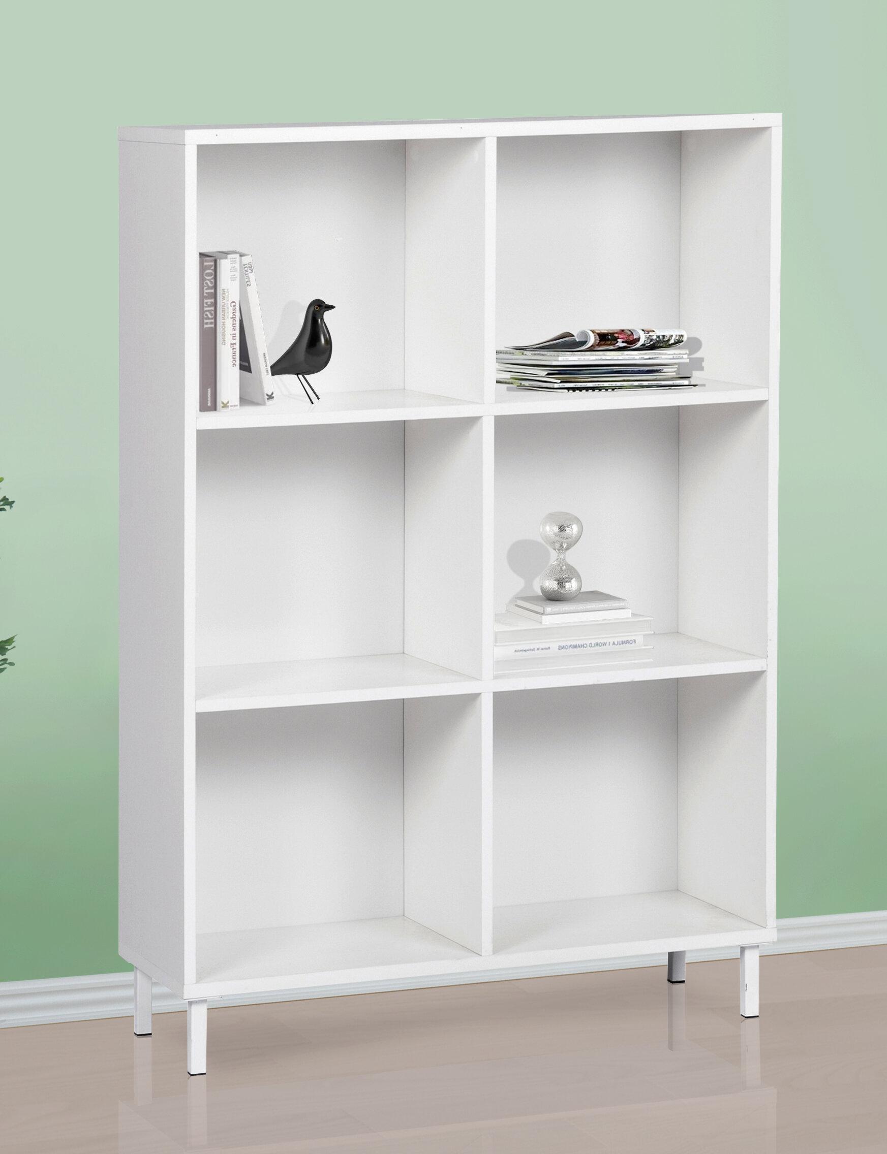 Latitude Run Dauntay 46 H X 31 5 W Standard Bookcase Wayfair