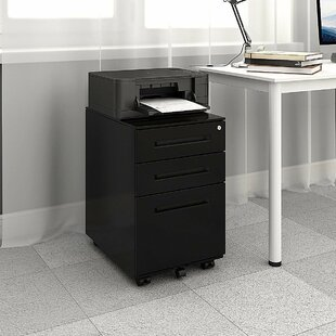 Consuelo Steel 3-Drawer Mobile Vertical Filing Cabinet