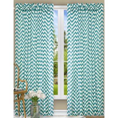 "Reston Single Curtain Panel Ellis Curtain Curtain Color: Turquoise, Size per Panel: 50"" W x 84"" L"