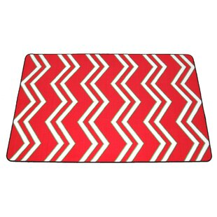 Price comparison Anyan Chevron Christmas Red/White Area Rug ByThe Holiday Aisle