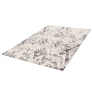 Breta Whirl Ivory/Grey Area Rug by Castleton Home
