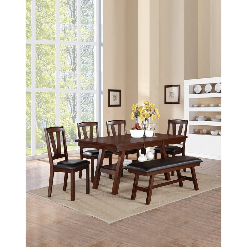 Millwood Pines Carlos 6 Piece Dining Set Reviews Wayfair